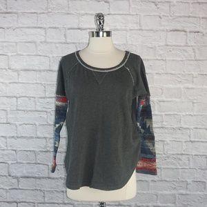 Denim & Supply Ralph Lauren Knit Sleeve Pullover